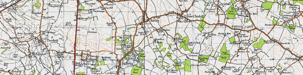 Old map of Abbotsbury in 1946