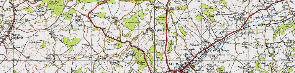 Old map of Shalden in 1940