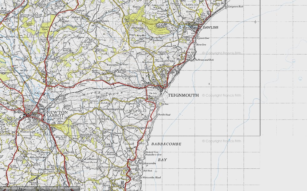 Old Map of Shaldon, 1946 in 1946