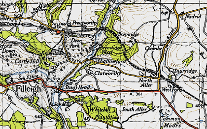 Old map of Whitehills Plantation in 1946