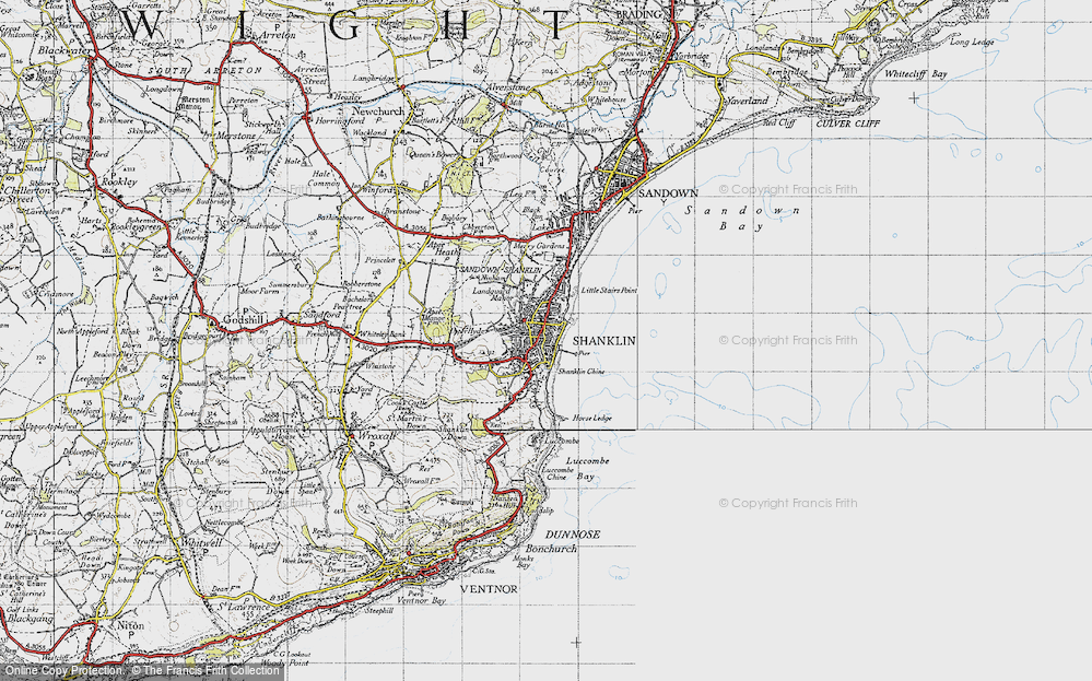 Old Map of Shanklin, 1945 in 1945