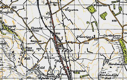 Old map of Wintertarn in 1947