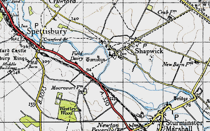 Old map of Westley Wood in 1940