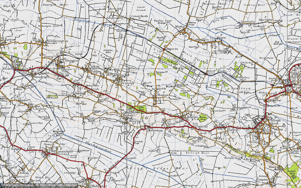 Old Map of Shapwick, 1946 in 1946