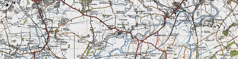 Old map of Ambaston Grange in 1946