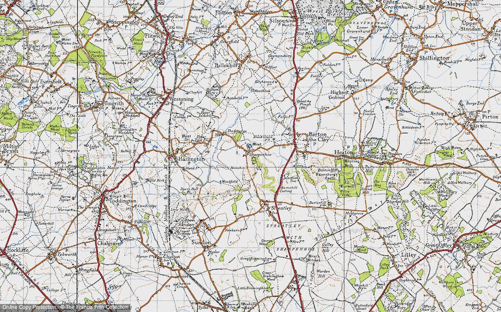 Old Map of Sharpenhoe, 1946 in 1946