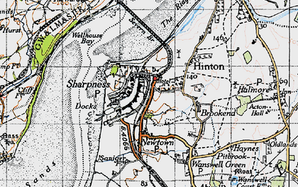 Old map of Sharpness in 1946