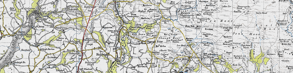 Old map of Wigford Down in 1946
