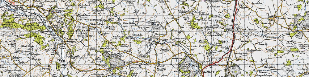 Old map of Shaw Mills in 1947