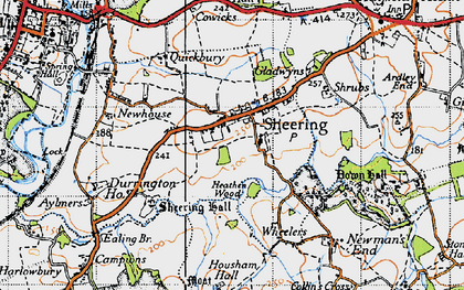 Old map of Sheering in 1946
