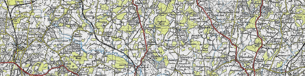 Old map of Wilmshurst in 1940