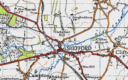 Old map of Shefford in 1946