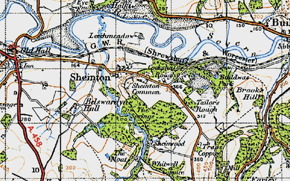Old map of Bannister's Coppice in 1947