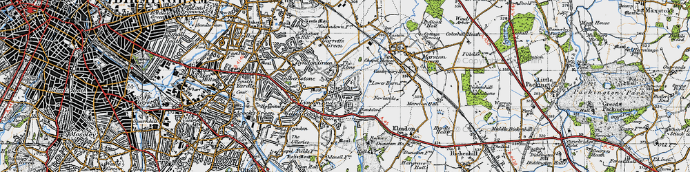 Old map of Sheldon in 1947