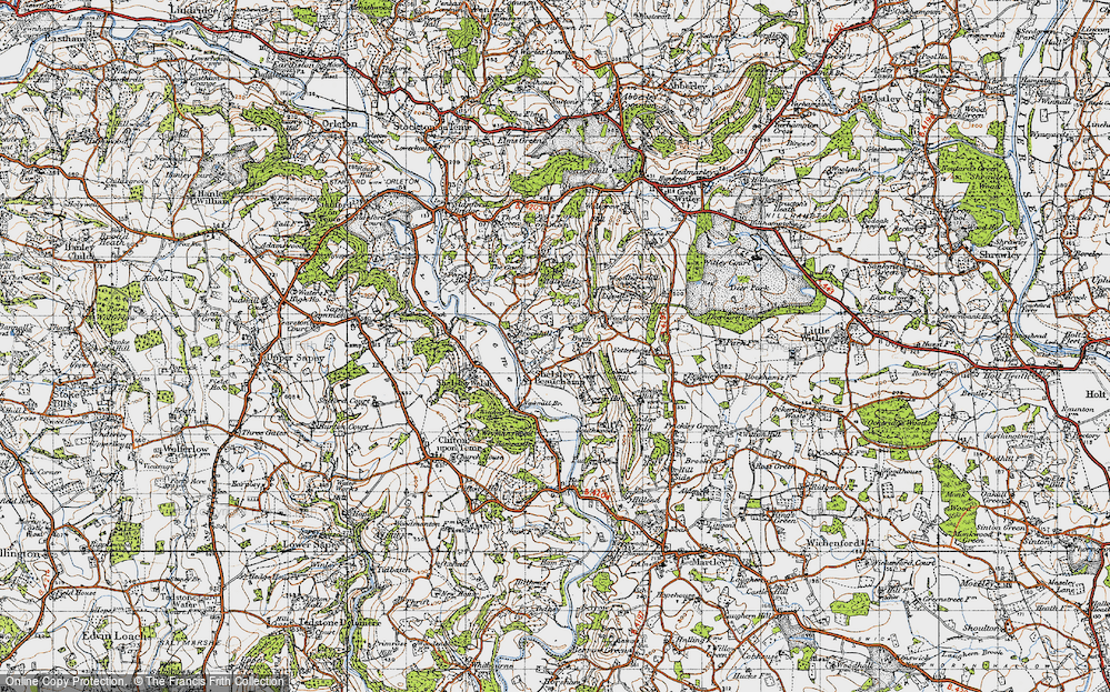 Old Map of Shelsley Beauchamp, 1947 in 1947