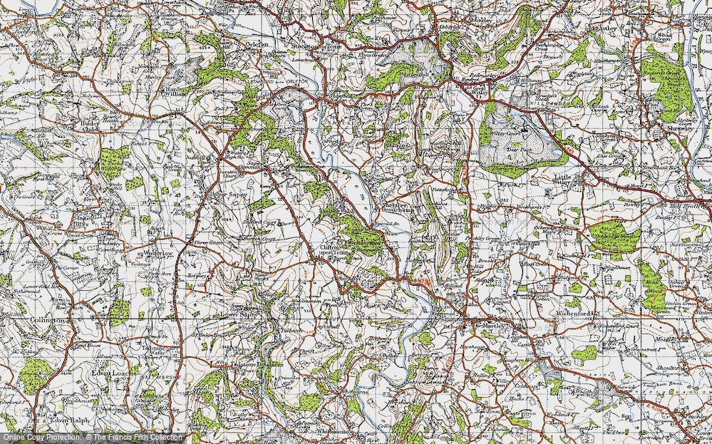 Old Map of Shelsley Walsh, 1947 in 1947