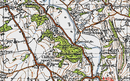 Old map of Weyman's Wood in 1947