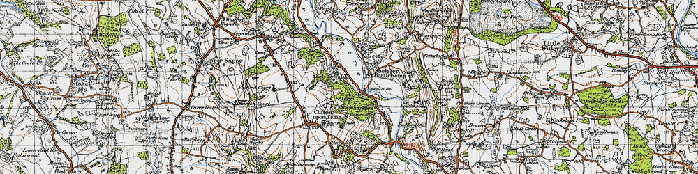 Old map of Witchery Hole in 1947