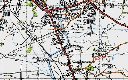 Old map of Shelton Lock in 1946