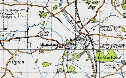 Old map of White Moors in 1946