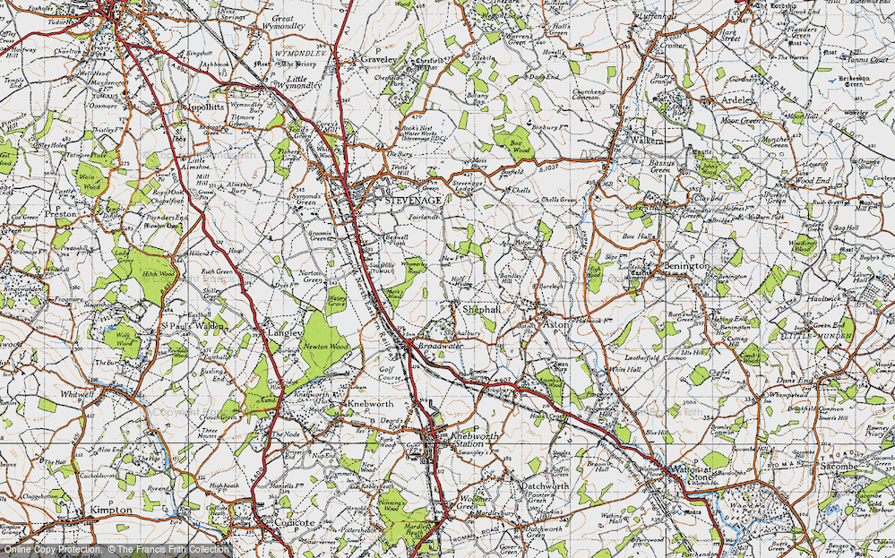 Old Map of Shephall, 1946 in 1946