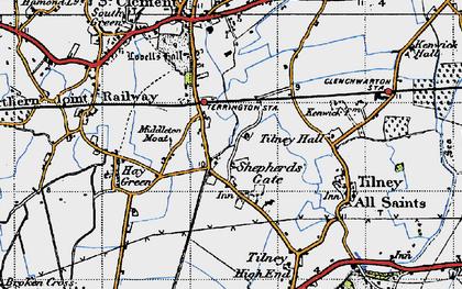 Old map of Balsamfield Ho in 1946