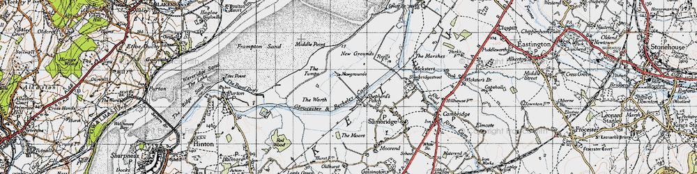 Old map of Wildfowl Trust, The in 1946