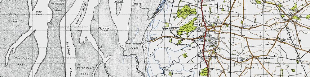 Old map of Wolferton Creek in 1946