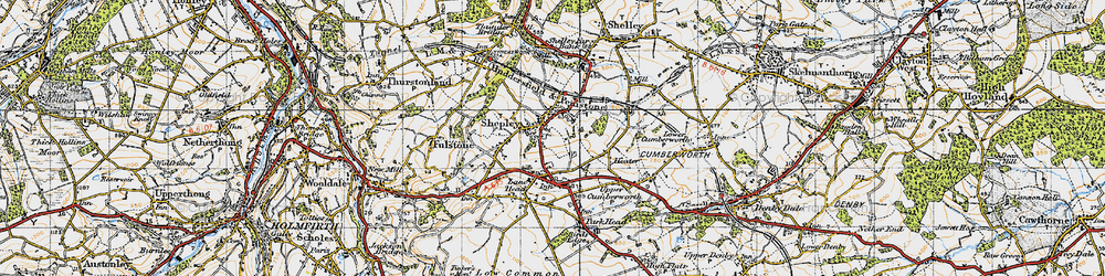 Old map of Shepley in 1947