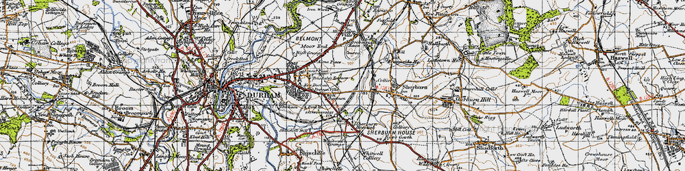 Old map of Whitwell Grange in 1947