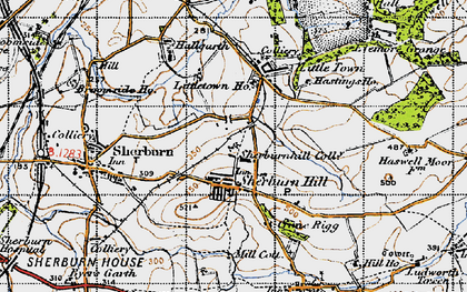Old map of Sherburn Hill in 1947