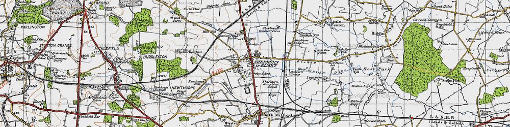Old map of Sherburn in Elmet in 1947