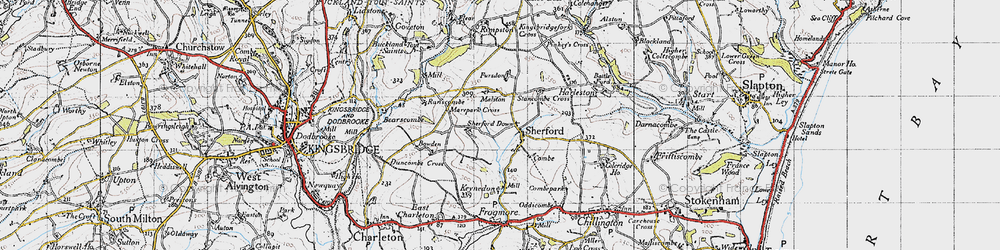 Old map of Sherford in 1946