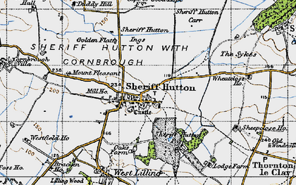 Old map of Sheriff Hutton in 1947