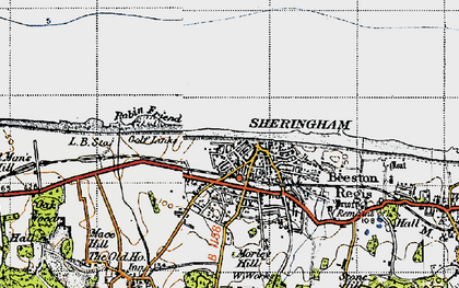 Old map of Sheringham in 1945