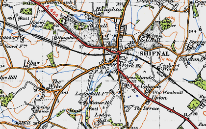 Old map of Shifnal in 1946