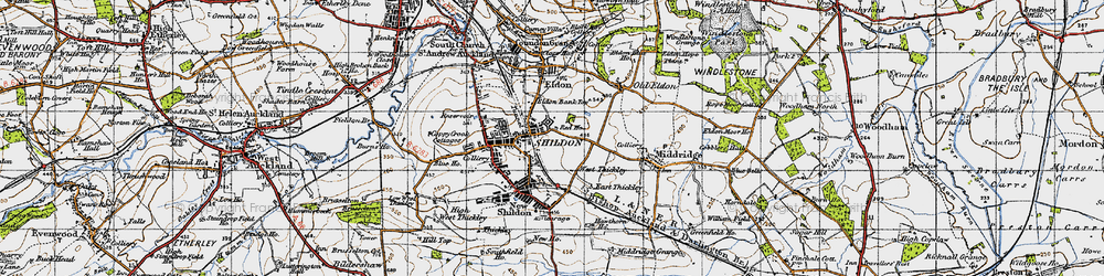 Old map of Shildon in 1947