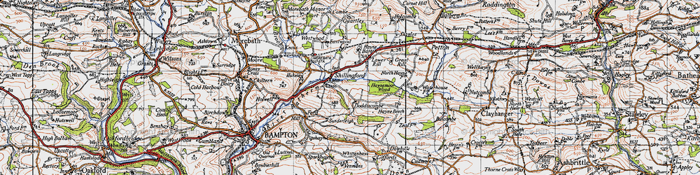 Old map of Whittenhays in 1946