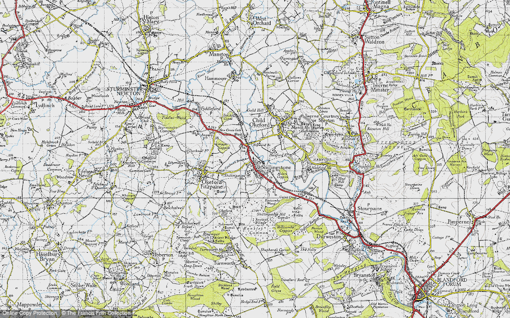 Old Map of Historic Map covering Alders Coppice in 1945