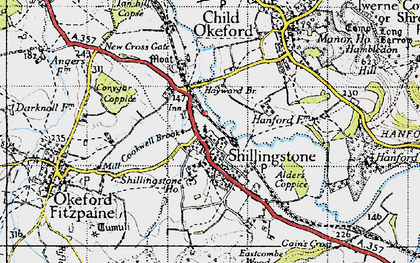 Old map of Alders Coppice in 1945