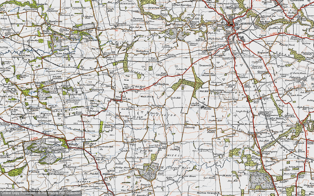 Old Map of Shilvington, 1947 in 1947