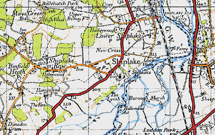 Old map of Shiplake in 1947