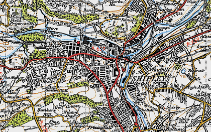 Old map of Shipley in 1947