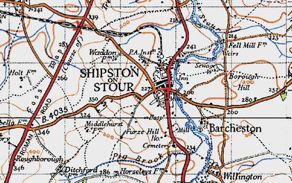 Old map of Shipston-on-Stour in 1946