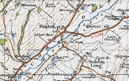 Old map of Shipton in 1947