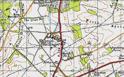 Old map of Althorne in 1940