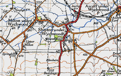 Old map of Shipton under Wychwood in 1946