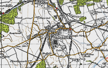 Old map of Shirebrook in 1947