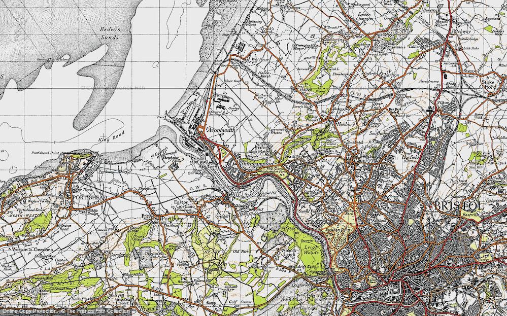 Old Map of Shirehampton, 1946 in 1946