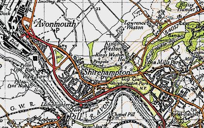 Old map of Shirehampton in 1946